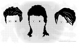 David Bowie Augen
