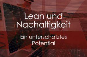 Lean und Nachhaltigkeit