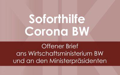 Corona-Soforthilfe Baden-Württemberg – Offener Brief